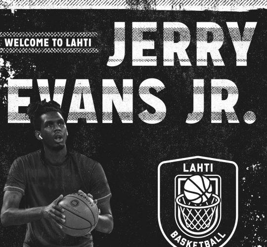 Tervetuloa Lahteen Jerry Evans Jr.